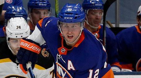 Josh Bailey of the Islanders skates against the