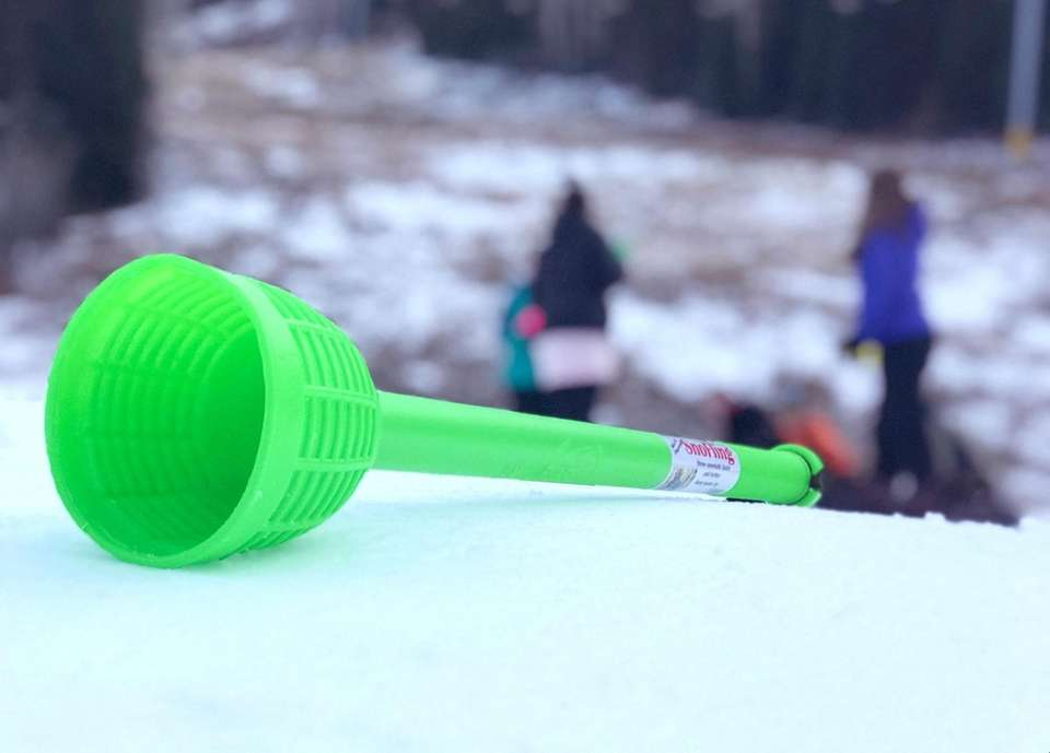 The SnoFling Snowball Thrower allows its user to