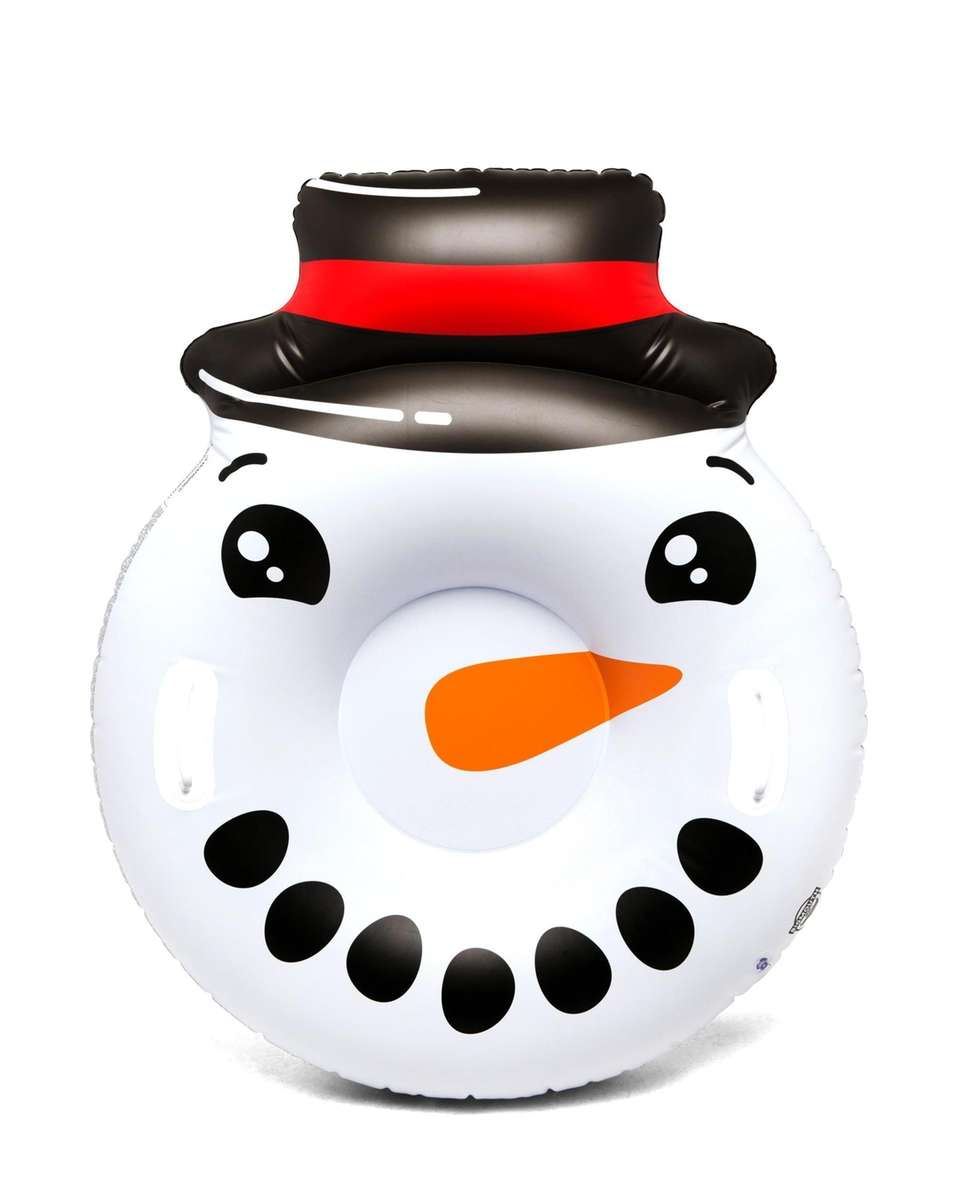 The Round Snowman Face snow tube from BigMouth