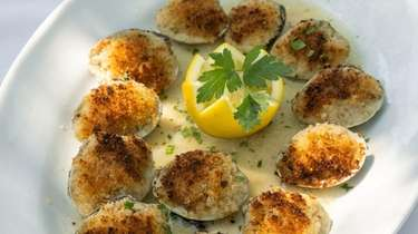 Baked clams oreganata, one of the Restaurant Week
