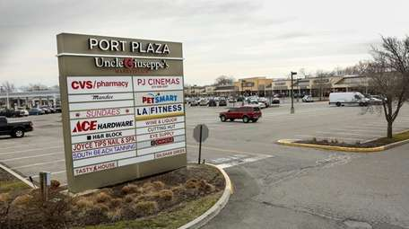 The Port Plaza shopping center on Route 112