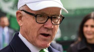 Jets CEO Woody Johnson during pregame against the