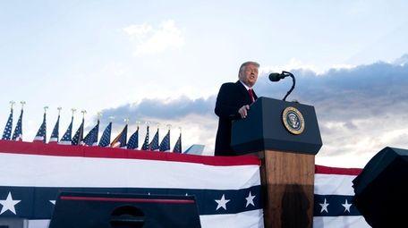 Donald Trump in his last speech as president