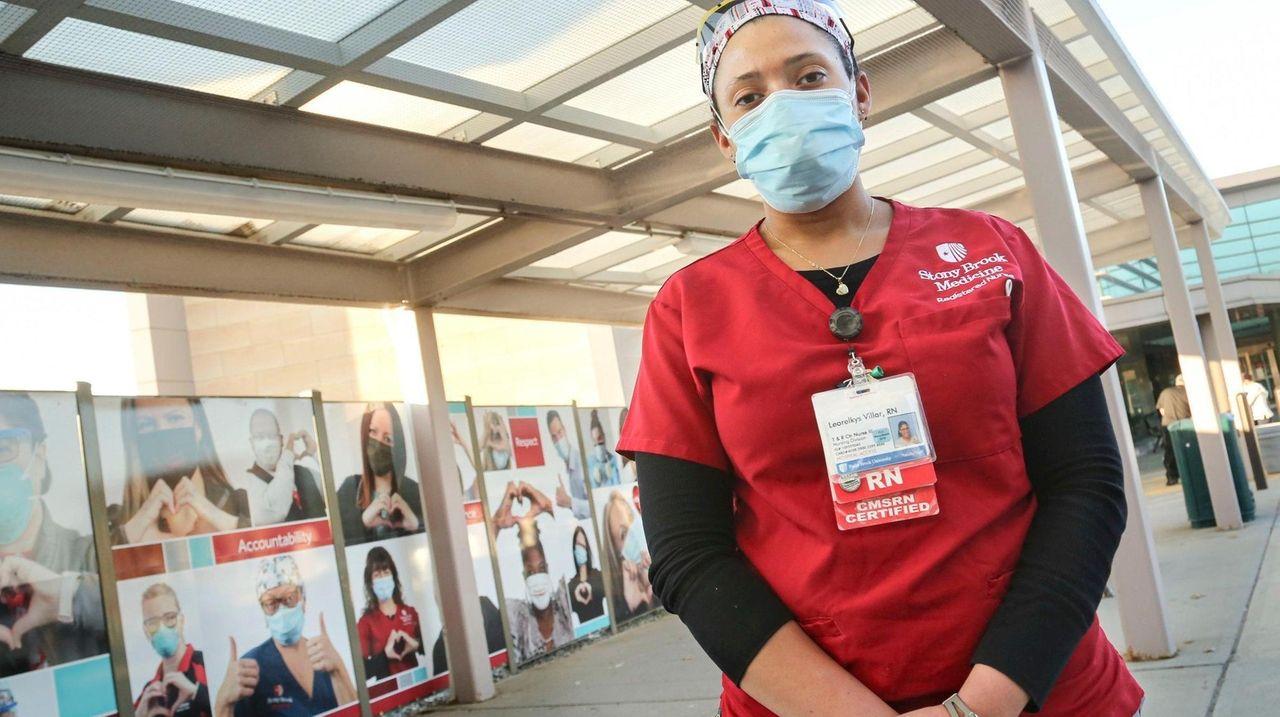 Leorelkys Villar, an assistant nurse manager at Stony