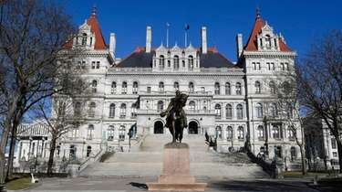 The New York state Capitol on April 1,