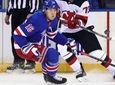 Dmitry Kulikov #70 of the New Jersey Devils