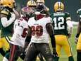 Tampa Bay Buccaneers' Jason Pierre-Paul reacts after sacking