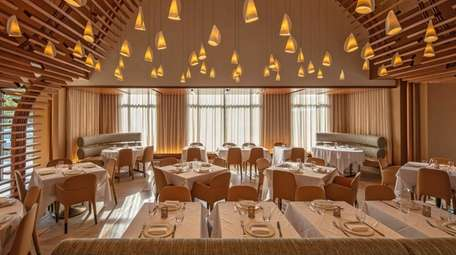 The dining room at Hunter Restaurant in East