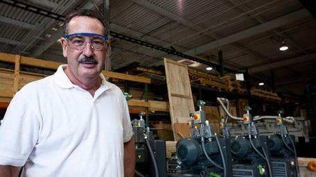 Founder Leonard A. Rosenbaum in the manufactory room