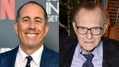 Comedian Jerry Seinfeld, left, has clarified that he