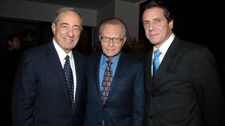(L-R) Mario Cuomo, Larry King and Andrew Cuomo