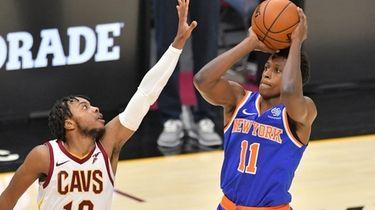 Frank Ntilikina #11 of the New York Knicks