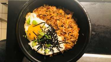 Kimchi fried rice with a sunny side up
