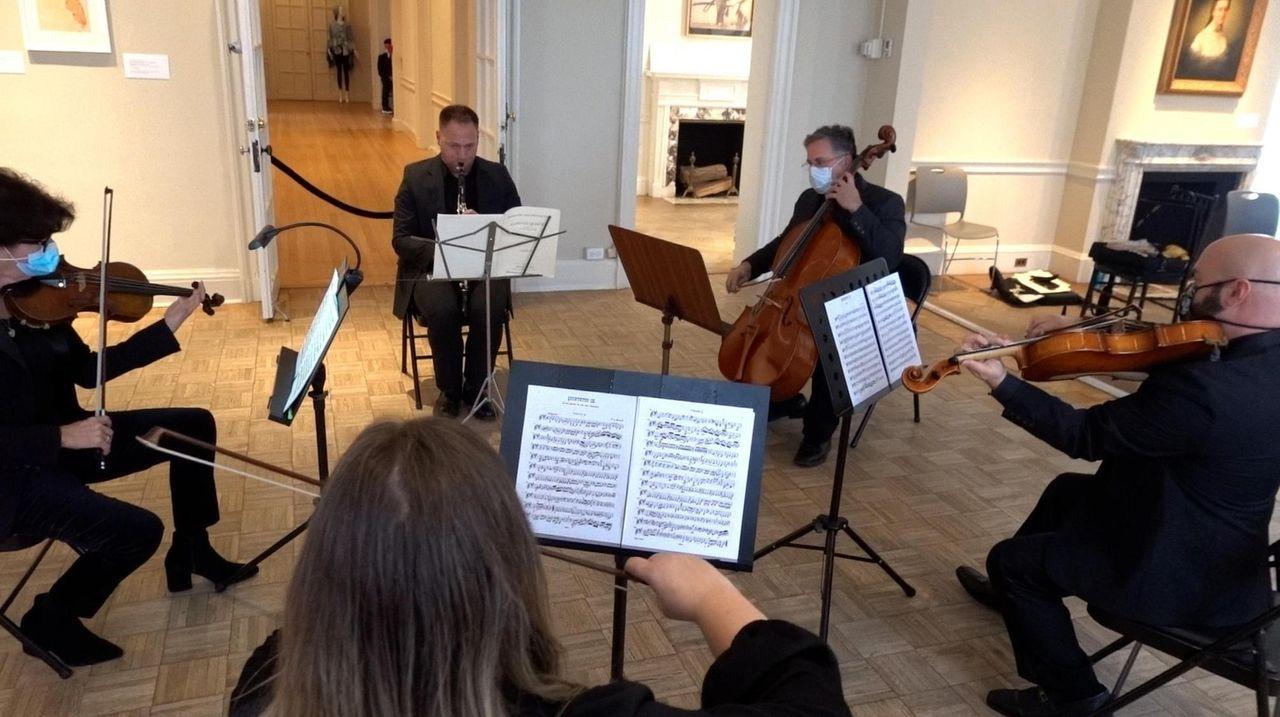 The Massapequa Philharmonic performs a socially distant concert