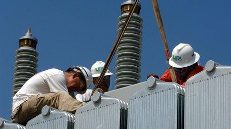 The LIPA Newbridge Road substation in Levittown being
