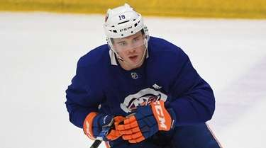 Islanders left wing Anthony Beauvillier during training camp