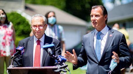 Senate Majority Leader Chuck Schumer and Rep. Thomas