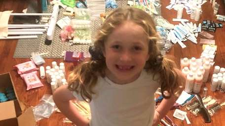 Laila Esposito, a first-grader at Florence A. Smith