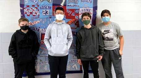 A team of eighth-graders from Roslyn Middle School