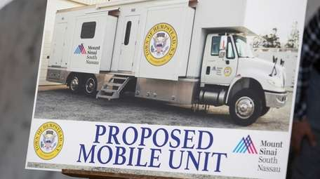 The mobile COVID-19 van will serve Hempstead Town