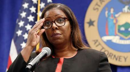 New York State Attorney General Letitia James during