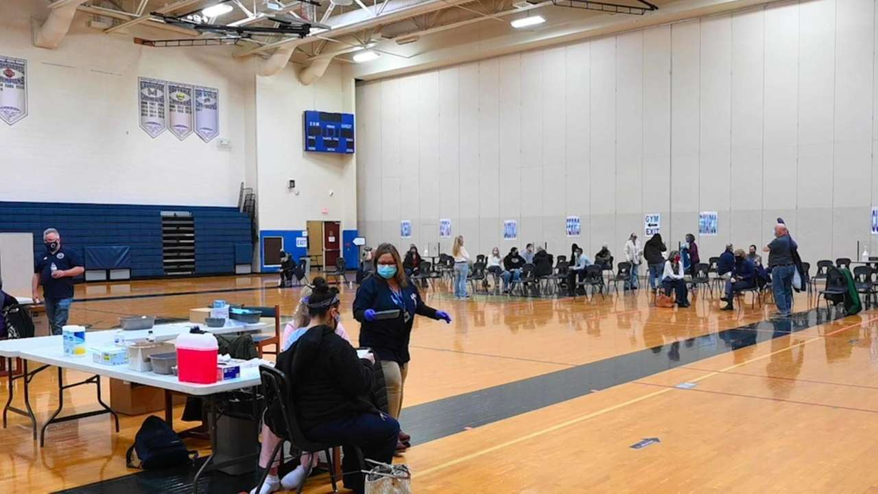 Eastport-South Manor Central School District distributed about 300