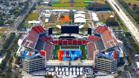 TAMPA, FLORIDA - JANUARY 31: An aerial view
