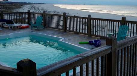 Wintertime on Dauphin Island may be too cold