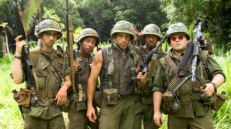 Jay Baruchel, left, Brandon T. Jackson, Ben Stiller,