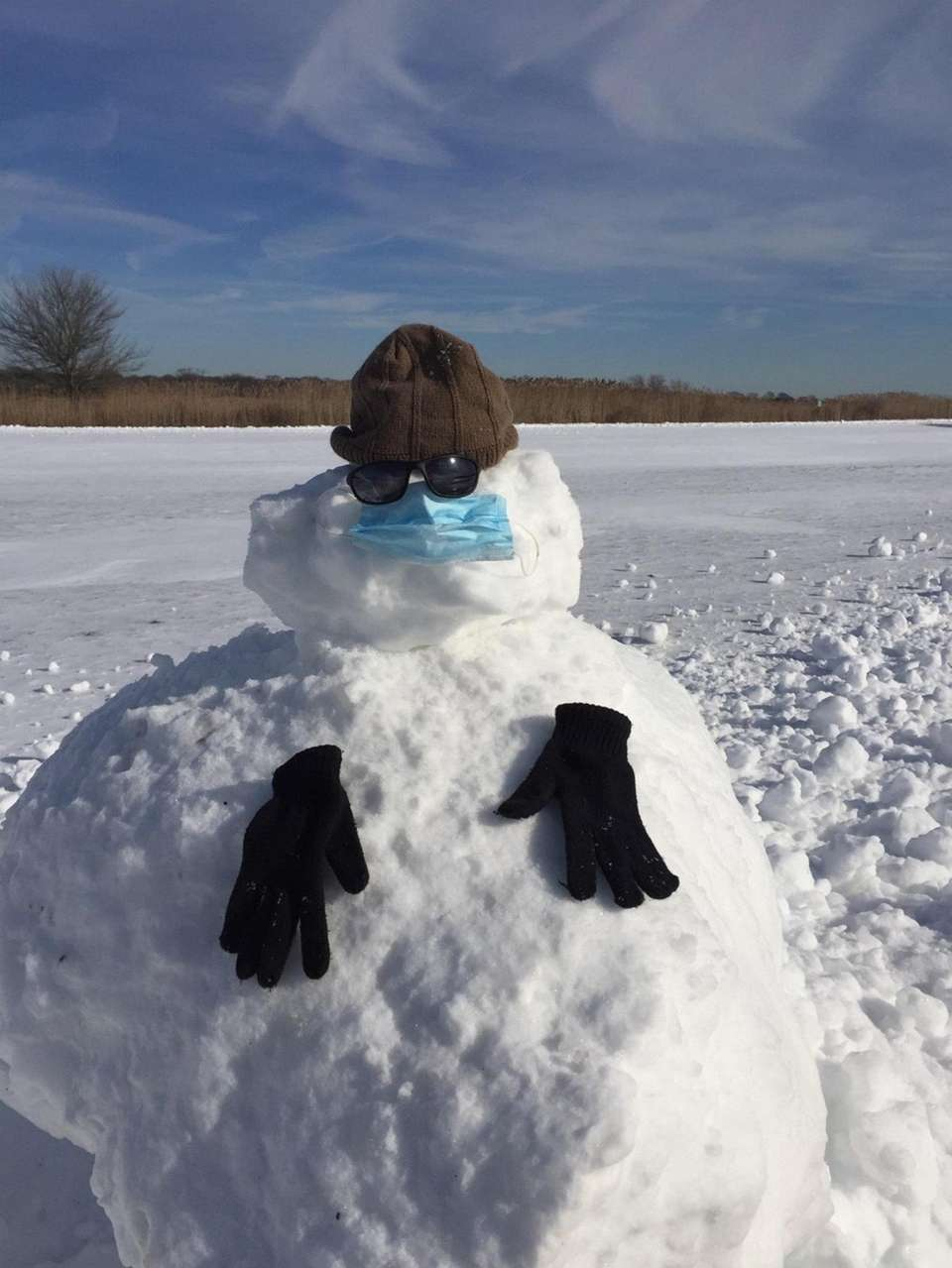 """Frosty says, """"Wear your mask"""" :)"""