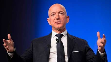Amazon founder Jeff Bezos in Oxen Hill, Maryland,