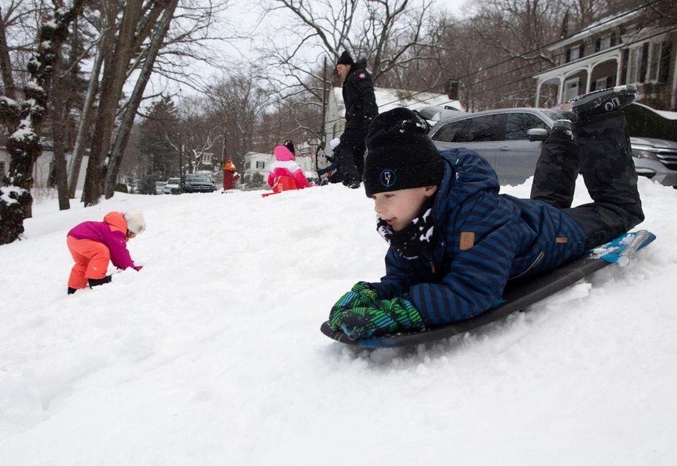 Josh Soyfer, 6, of East Hills, is shown