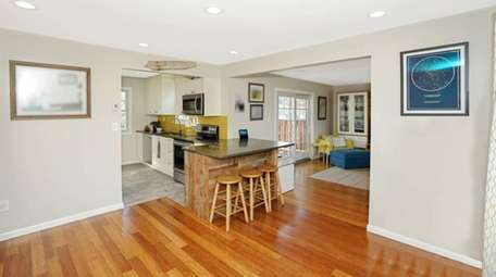 The owners renovated the entire downstairs themselves, from