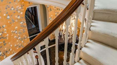 There is a winding staircase to the second