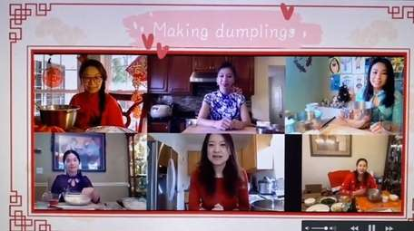 A demonstration of dumpling making is one of