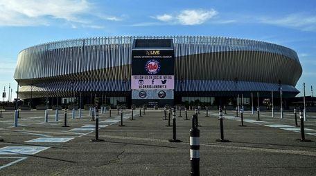 Nassau Veterans Memorial Coliseum, shown in June 2020.