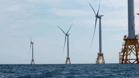 These wind turbines off the coast of Rhode