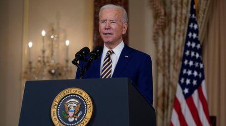 President Joe Biden at the State Department on