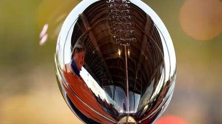 The Lombardi Trophy at the NFL Experience on