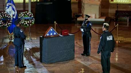 U.S. Capitol Police Officer Brian Sicknick is memorialized