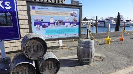 A display along the Freeport Nautical Mile.