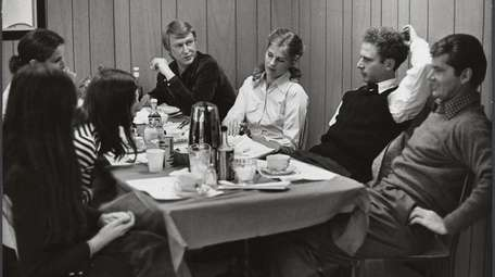 Director Mike Nichols, far left, with Candice Bergen,