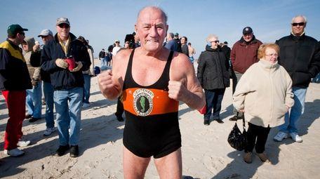 Jones, at 83, gets ready to swim at