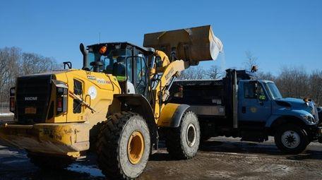Hempstead's Snow Response Team prepares for a storm