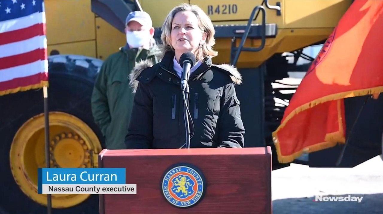 Nassau County Executive Laura Curran says Sunday's storm
