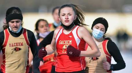 Anna Murphy of Sachem East competes in the