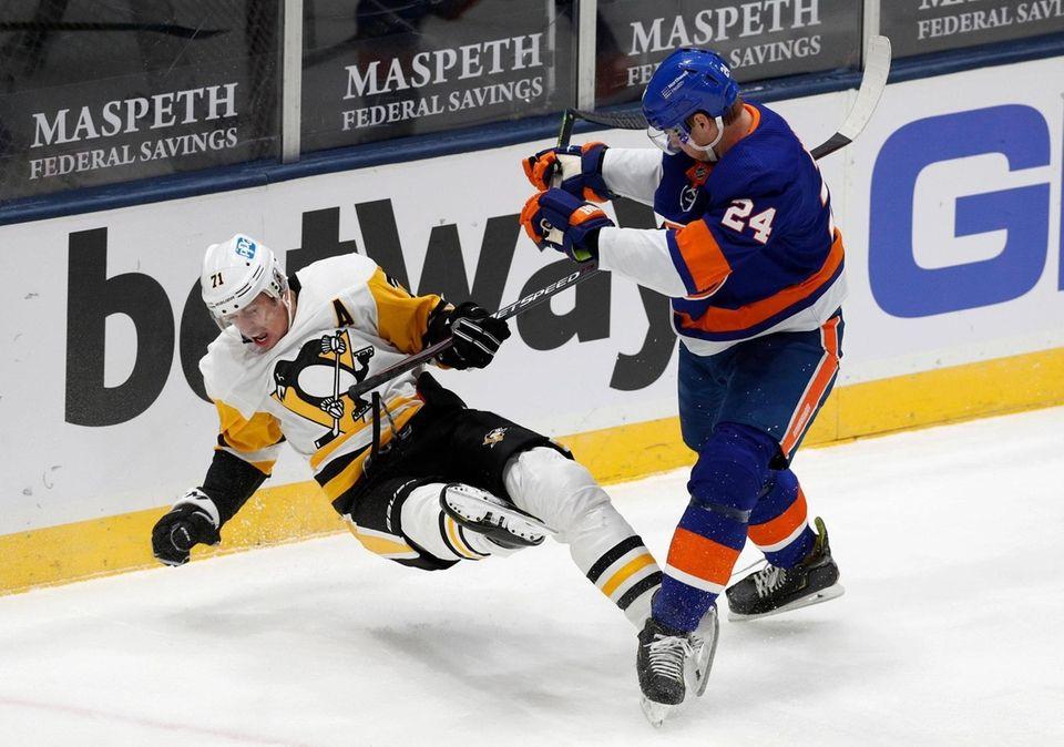 Scott Mayfield #24 of the New York Islanders