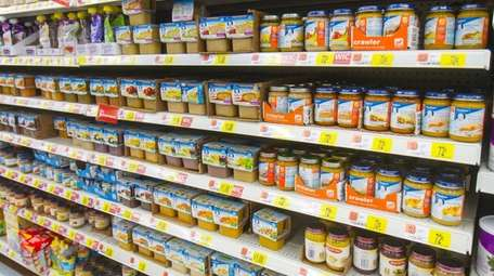 Some baby food may contain lead, arsenic and