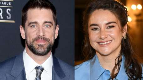 Aaron Rodgers and girlfriend Shailene Woodley appear in