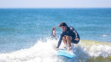 Tom Casse, an instuctor with CoreysWave rides a